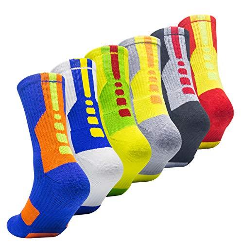 Weihnachtsgeschenk für große Jungen Socken Basketball Socken - Blau - One size(shoe Size:Mens 6-10 Womens 7-11)
