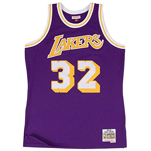 Mitchell & Ness Magic Johnson #32 Los Angeles Lakers 1984-85 Swingman NBA Trikot Lila, S