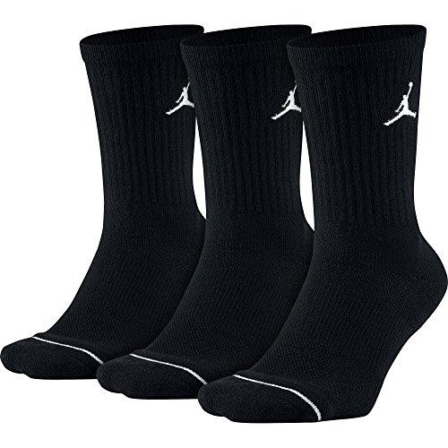 Nike 3 Pack Jordan Jumpman Crew Socken, Black, M