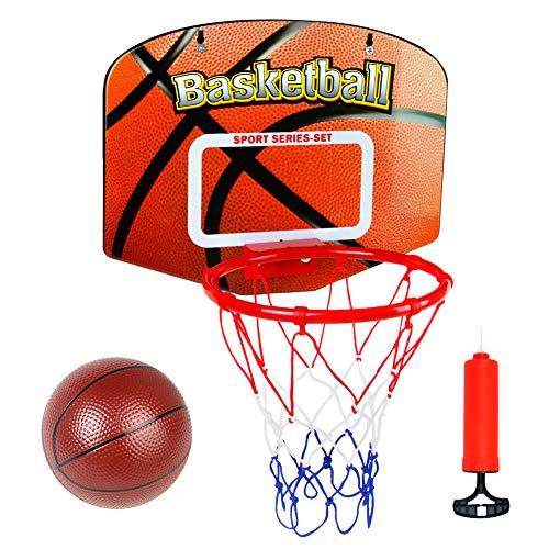 Basketballkorb fürs Zimmer Outdoor Basketball Kinder Spielzeug Basketball Korb mit Bälle Pump Wurfspiele für Draußen Spiele Geschenk Junge Mädchen ab 3 4 5 6 Jahren