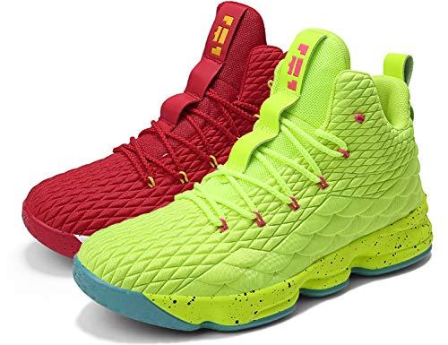 SINOES Unisex Basketball Schuhe Turnschuhe Kinderschuhe Sportschuhe Jungen High-Top Outdoor Laufeschuhe Sneaker Unisex-Kinder Atmungsaktiv Anti-Rutsch Trainers Running Shoes