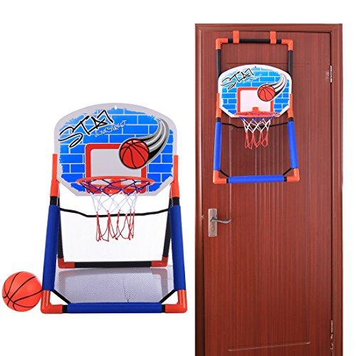 TETAKE Basketballkorb fürs Zimmer, Basketballkorb mit Ständer, Basketballkorb Kinder Tür, Basketballkorb Wand zum Kinder 2-6 Jahre, 65*46*44cm