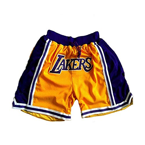 SPORTS Herren Jersey Lakers James Basketball Hose # 23 Herren Shorts Gelb Stickerei Trainingswettbewerb Cropped Pants L