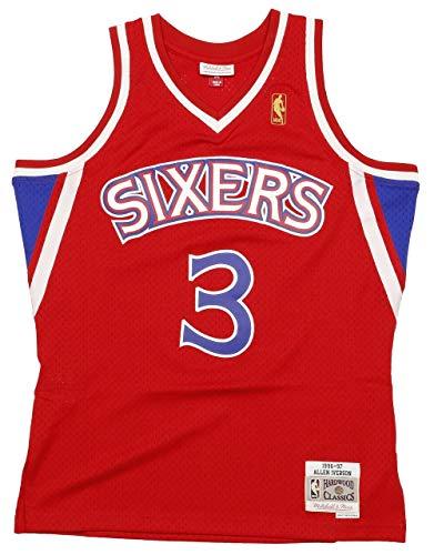 Mitchell & Ness Allen Iverson #3 Philadelphia 76ers 1996-97 Swingman NBA Trikot ROT, L