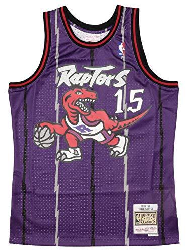 Mitchell & Ness Vince Carter #15 Toronto Raptors 1998-99 Swingman NBA Trikot Lila, M