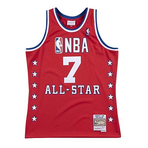 Mitchell & Ness Karl Malone #7 1988 NBA All-Star Game West Swingman Trikot Rot, S